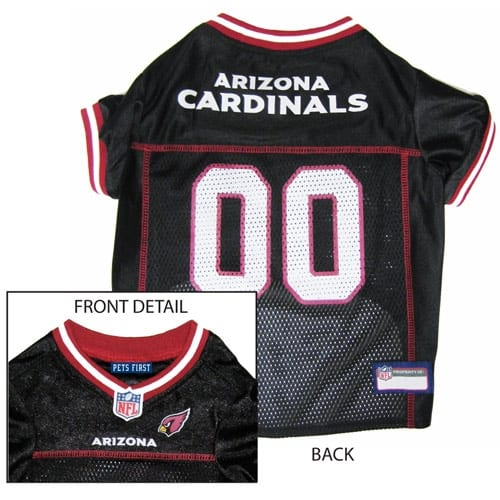 Arizona Cardinals Dog Jersey - Red Trim