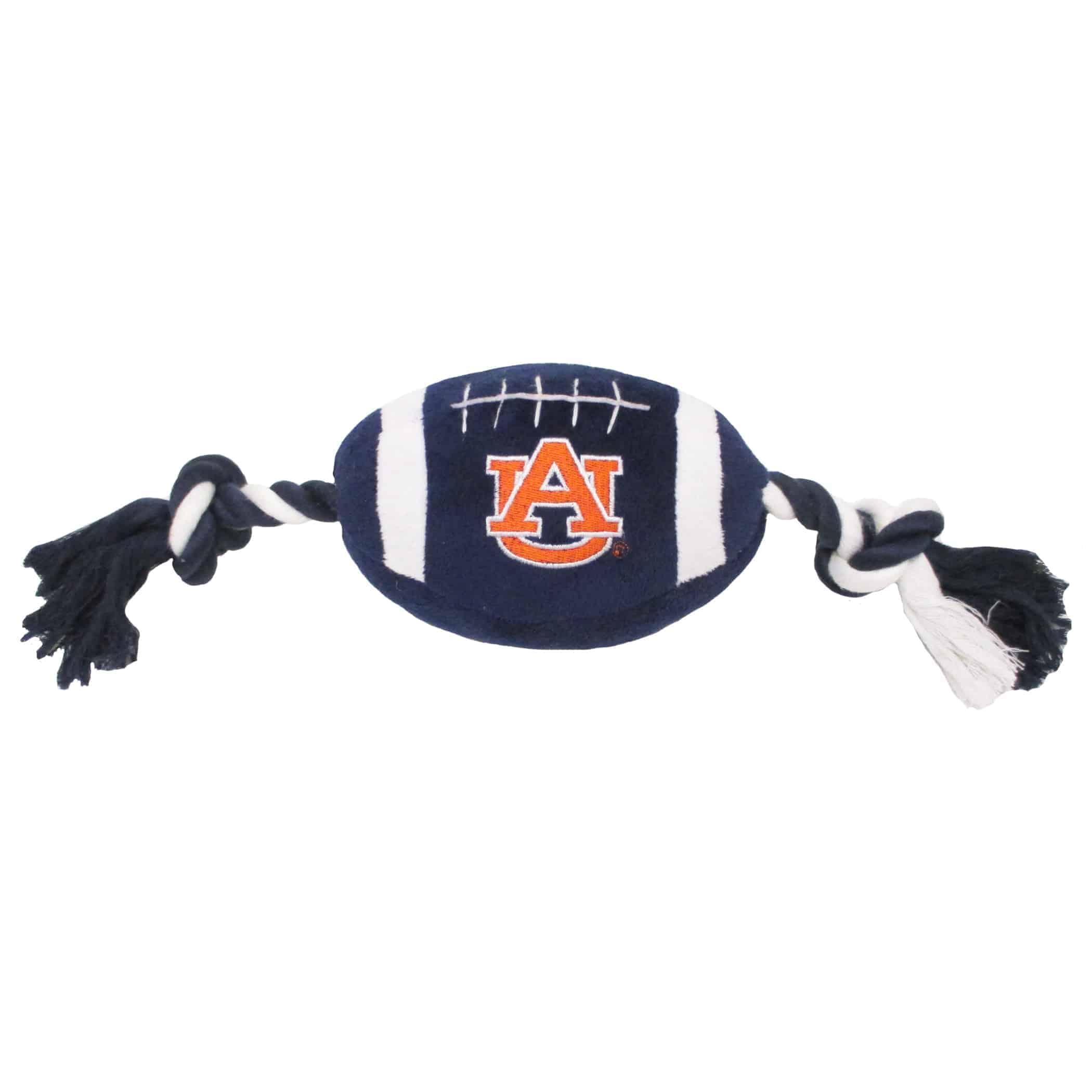 Auburn Plush Football Dog Toy