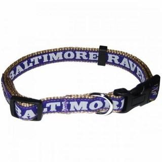 Baltimore Ravens Dog Collar - Ribbon