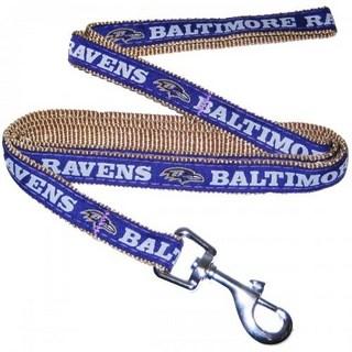 Baltimore Ravens Dog Leash - Ribbon