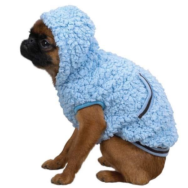 Blue Snowbaby Dog Hoodie