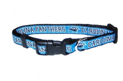Carolina Panthers Dog Collar- Ribbon