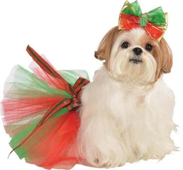 Christmas Tree Dog Hair Bow