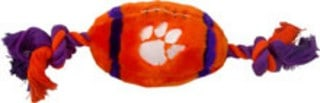 Clemson Plush Football Dog Toy
