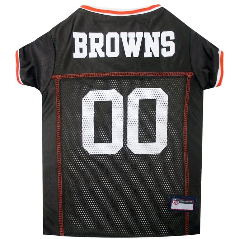 Cleveland Browns Dog Jersey - White Trim