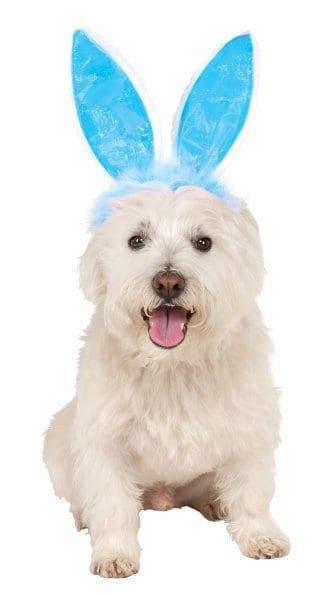 Deluxe Blue Pet Bunny Ears