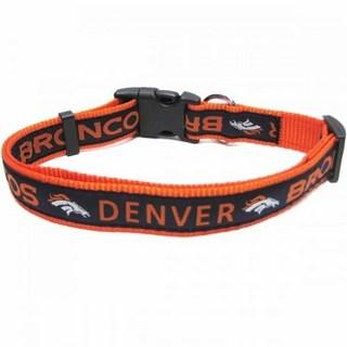 Denver Broncos Dog Collar - Ribbon
