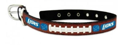 Detroit Lions Dog Collar Leather