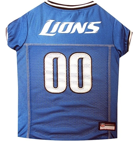 Detroit Lions Dog Jersey - Black Trim