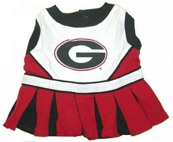 Georgia Bulldogs Cheerleader Dog Dress