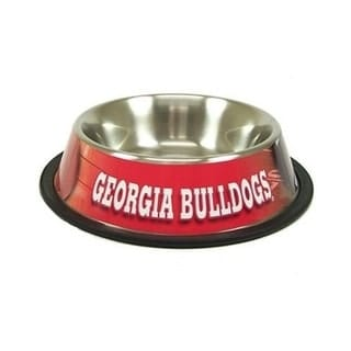 Georgia Bulldogs Dog Bowl - Stainless