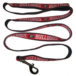 Georgia Bulldogs Dog Leash - Ribbon