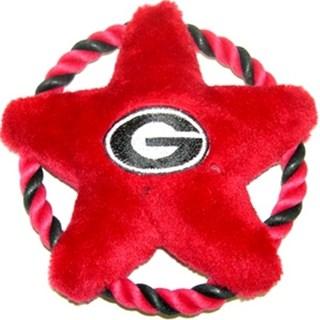 Georgia Bulldogs Rope Disk Dog Toy