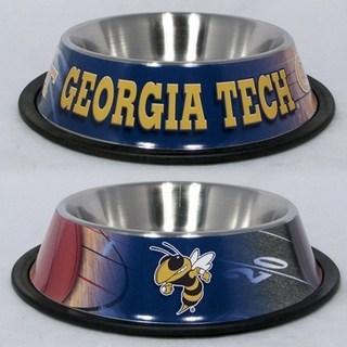 Georgia Tech Dog Bowl - Stainless