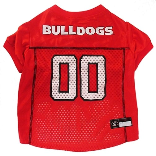 Georiga Bulldogs Dog Jersey - Red