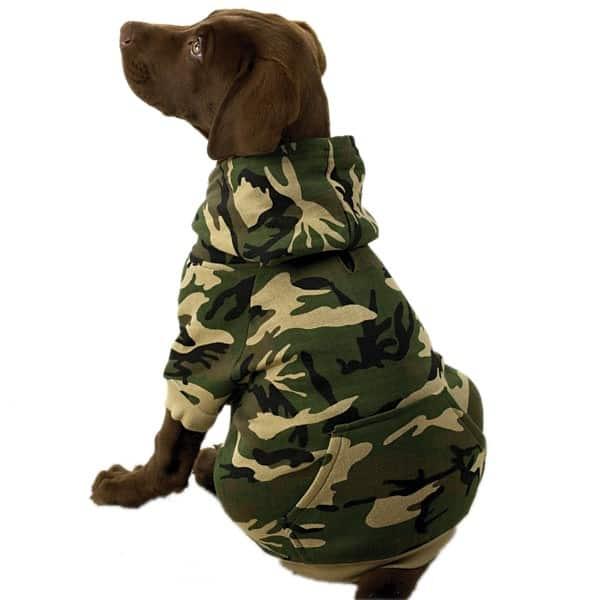 Green Camo Dog Hoodie