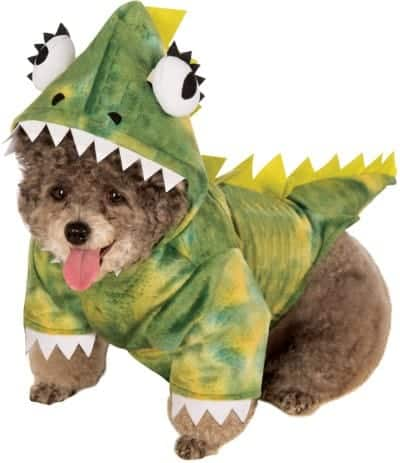 Green Dinosaur Dog Costume