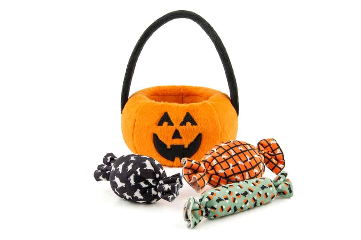 Halloween Pumpkin Basket Dog Toy Accessory
