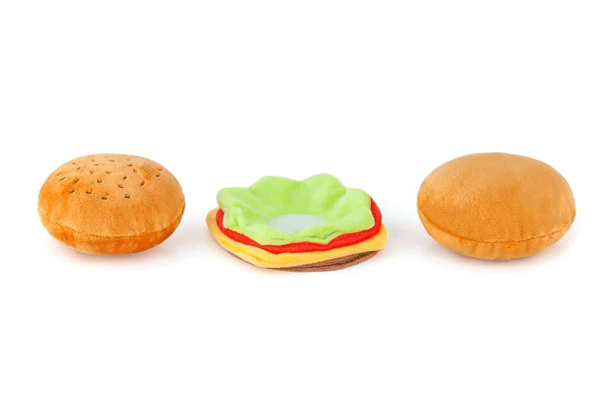 Hamburger Dog Toy Accessory
