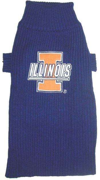 Illinois Fighting Illini Dog Sweater