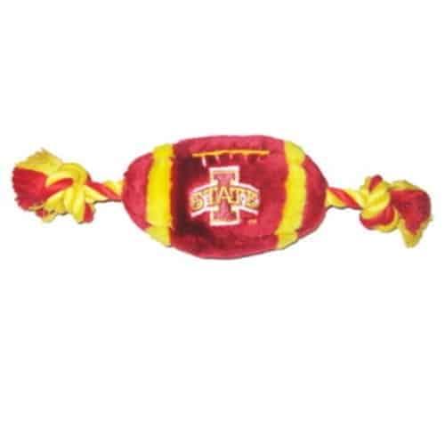 Iowa State Plush Football Dog Toy