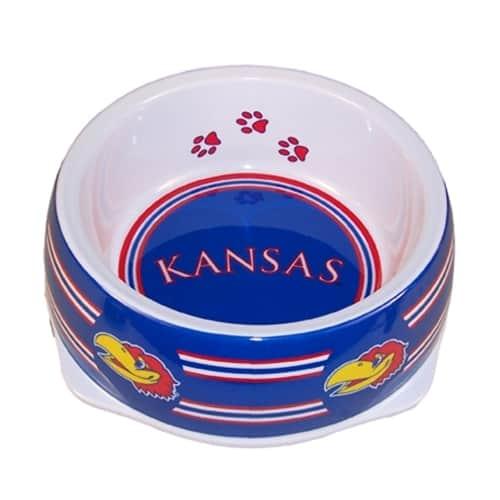 Kansas Jayhawks Dog Bowl - Plastic
