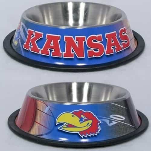 Kansas Jayhawks Dog Bowl - Stainless