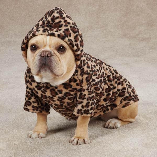 Leopard Print Dog Cuddler Hoodie