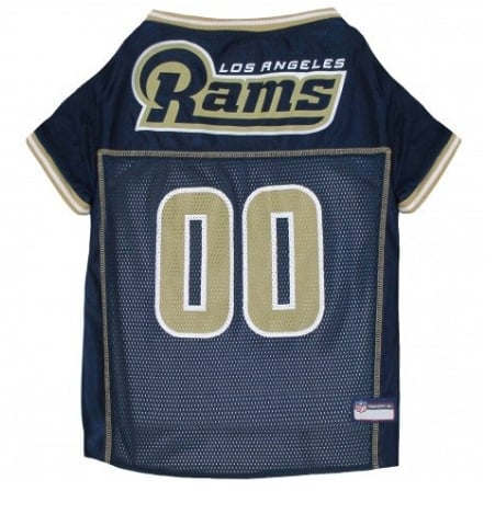 Los Angeles Rams Dog Jersey - Gold Trim
