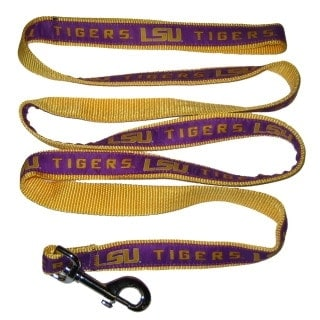 LSU Dog Leash - Ribbon
