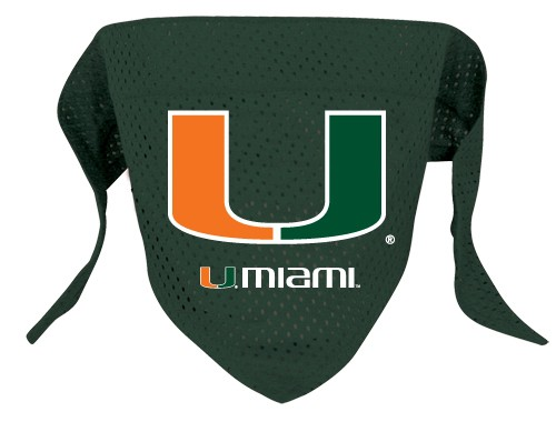 Miami Hurricanes Dog Bandana - Mesh
