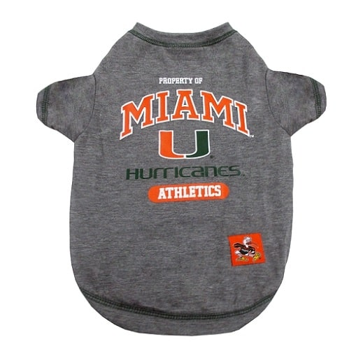 Miami Hurricanes Dog Tee Shirt
