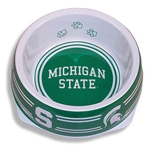 Michigan State Dog Bowl - Plastic