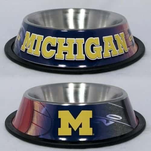 Michigan Wolverines Dog Bowl - Stainless