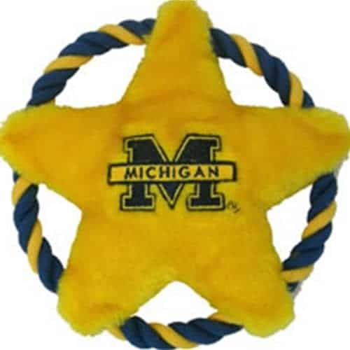 Michigan Wolverines Dog Rope Disk Toy