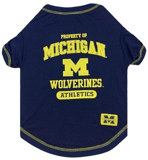 Michigan Wolverines Dog Tee Shirt