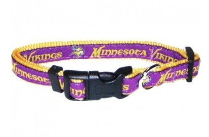 Minnesota Vikings Dog Collar- Ribbon