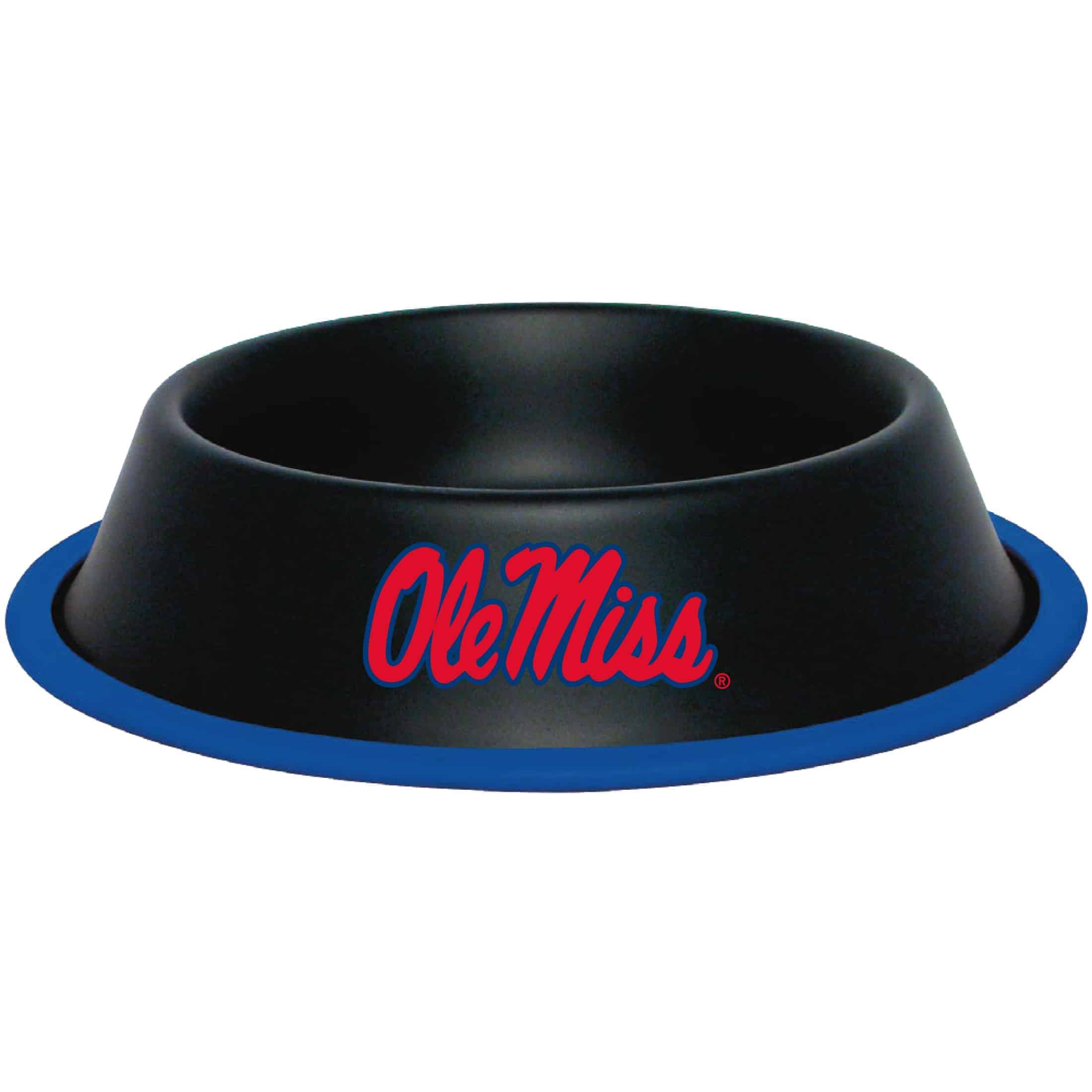 Mississippi Rebels Dog Bowl - Stainless