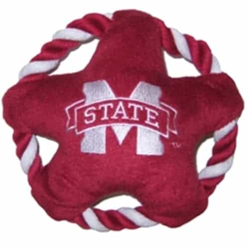 Mississippi State Rope Disk Dog Toy