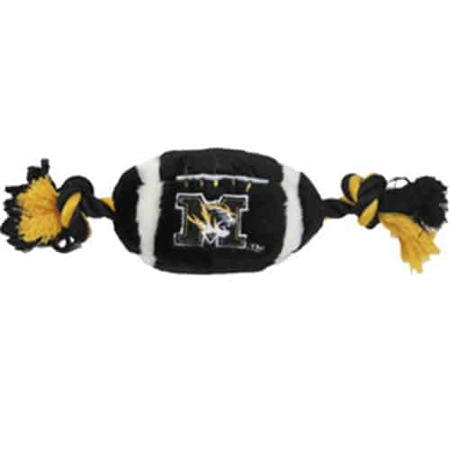 Missouri Tigers Plush Football Dog Toy