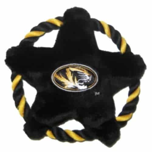Missouri Tigers Rope Disk Dog Toy