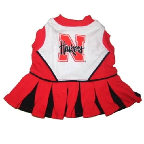 Nebraska Huskers Dog Cheerleader Dress