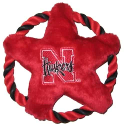 Nebraska Huskers Rope Disk Dog Toy