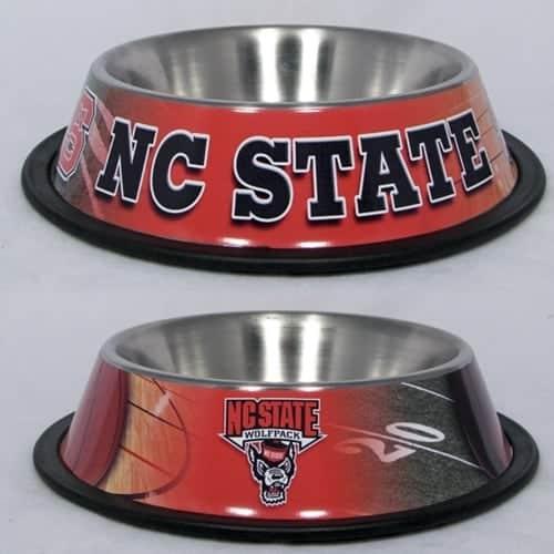 North Carolina State Dog Bowl - Stainless Steel