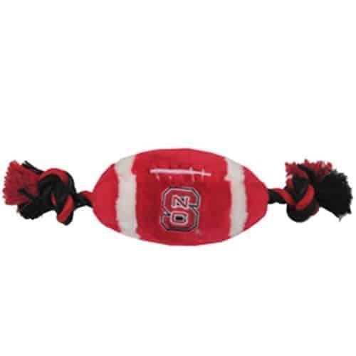 North Carolina State Plush Football Dog Toy
