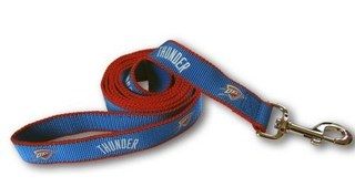 Oklahoma City Thunder Dog Leash - Reflective