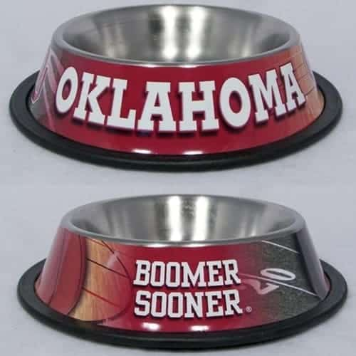 Oklahoma Sooners Dog Bowl - Stainless