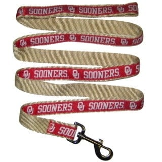 Oklahoma Sooners Dog Leash - Ribbon