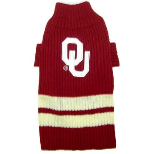 Oklahoma Sooners Dog Sweater