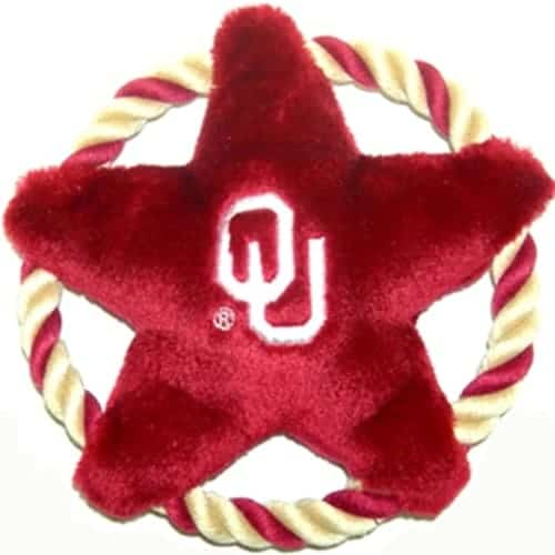 Oklahoma Sooners Rope Disk Dog Toy
